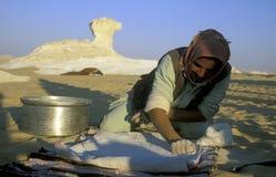 AFRYKA EGIPT SAHARA FARAFRA jedzenia chleb Obraz Stock