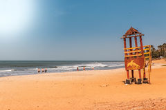 Afryka Gambia - raj plaża Zdjęcia Royalty Free