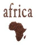 Afryka i kawa Fotografia Stock