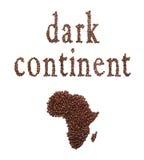 Afryka i kawa Zdjęcia Royalty Free