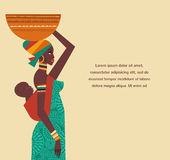 Afryka - infographics i tło ilustracja wektor