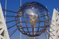 Afryka jest na dekoracyjnej kuli ziemskiej Fotografia Stock