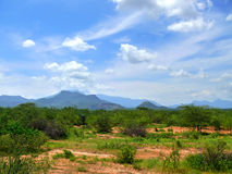 Afryka, Kenja. Góry. Krajobrazowa natura. Zdjęcia Stock