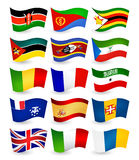 Afryka kraju latania flaga ustawiają część 4 Obraz Stock