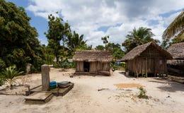 Afryka malagasy budy w Maroantsetra regionie, Madagascar Obraz Stock