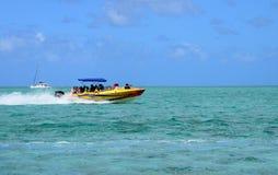 Afryka, malowniczy aera błękit zatoka blisko Mahebourg Fotografia Royalty Free