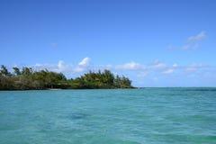 Afryka, malowniczy aera błękit zatoka blisko Mahebourg Fotografia Stock