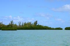 Afryka, malowniczy aera błękit zatoka blisko Mahebourg Obraz Royalty Free