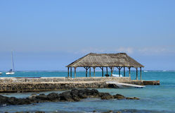 Afryka, malowniczy teren los angeles Pointe Aux Canonniers w Mauritiu Fotografia Stock
