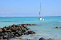 Afryka, malowniczy teren los angeles Pointe Aux Canonniers w Mauritiu Fotografia Royalty Free