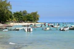 Afryka, malowniczy teren los angeles Pointe Aux Canonniers w Mauritiu Zdjęcie Stock