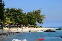 Afryka, malowniczy teren los angeles Pointe Aux Canonniers w Mauritiu Obraz Royalty Free