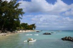 Afryka, malowniczy teren los angeles Pointe Aux Canonniers w Mauritiu Obrazy Stock