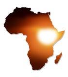 Afryka mapy projekt Obrazy Stock