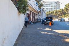 Afryka, Maroko, Tanger, miasto, miastowy widok, zaludnia, samochód 2013 Zdjęcia Royalty Free