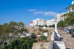 Afryka, Maroko, Tanger, miasto, samochody i miastowy widok, 2013 Zdjęcia Stock