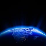 Afryka miasta światła przy nocą Obraz Stock