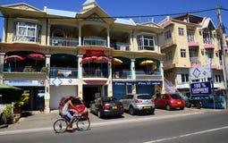 Afryka, miasto wielka zatoka w Mauritius wyspie Fotografia Royalty Free