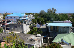 Afryka, miasto wielka zatoka w Mauritius wyspie Obrazy Stock