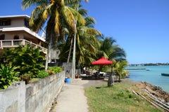 Afryka, miasto wielka zatoka w Mauritius wyspie Zdjęcia Stock