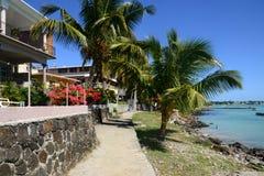 Afryka, miasto wielka zatoka w Mauritius wyspie Zdjęcia Royalty Free