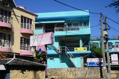 Afryka, miasto wielka zatoka w Mauritius wyspie Fotografia Stock