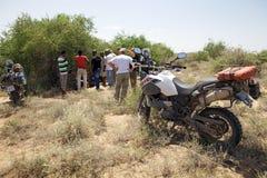 Afryka motocyklu wyprawa Obrazy Royalty Free