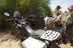 Afryka motocyklu wyprawa Fotografia Royalty Free
