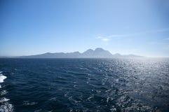 Afryka od Algeciras Fotografia Stock