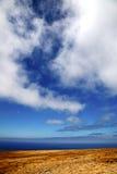 Afryka     od halnej linii w Lanzarote Zdjęcie Stock