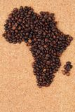Afryka od kawowych fasoli Zdjęcia Stock