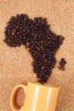 Afryka od kawowych fasoli Obraz Royalty Free