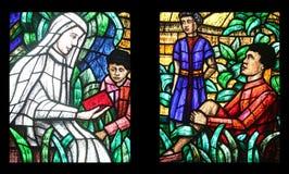 Afryka okno w Votiv Kirche w Wiedeń Obrazy Royalty Free