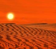Afryka Pólnocna, piaskowaci barkhans Zdjęcie Stock