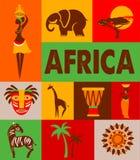 Afryka - plakat i tło Zdjęcie Stock