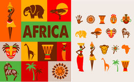 Afryka - plakat i tło Obraz Stock