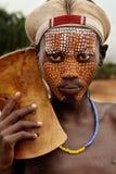 Afryka, południowy Etiopia, Arbore plemię Fotografia Stock