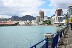 Afryka, Portowy Louis miasto w Mauritius wyspie Obraz Stock