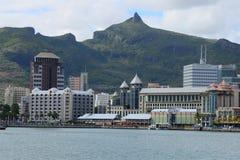 Afryka, Portowy Louis miasto w Mauritius wyspie Zdjęcia Stock