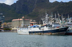 Afryka, Portowy Louis miasto w Mauritius wyspie Fotografia Stock