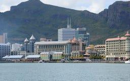 Afryka, Portowy Louis miasto w Mauritius wyspie Obrazy Stock