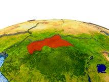 Afryka Środkowa na modelu ziemia Obraz Stock