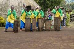 Afrykańscy dobosze - Rwanda Zdjęcia Stock