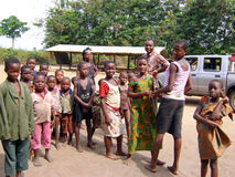 afrykańscy dzieci Ghana Obraz Royalty Free