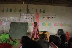 Afrykańscy dzieci w klasie w preschool wiejski Swaziland, afryka poludniowa Zdjęcia Stock