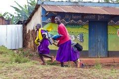 Afrykańscy dziecko w wieku szkolnym Zdjęcia Stock