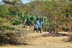 afrykańscy ludzie Kenja, Afryka Zdjęcie Stock