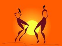 Afrykański taniec Zdjęcia Royalty Free