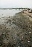 Afryka Senegal zanieczyszczenia rzeczna ziemia Zdjęcia Stock