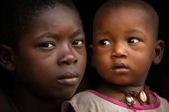 Afryka, sierra leone mała wioska Mabendo Zdjęcia Stock